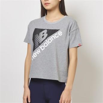 (NB公式)【ログイン購入で最大8%ポイント還元】 ウイメンズ NBアスレチックスアーカイブボクシーTシャツ (グレー) ライフスタイル ウェア / トップス ニューバランス newbalance