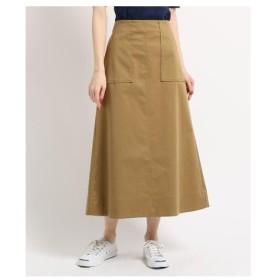 Dessin(Ladies)(デッサン(レディース))【洗える】レースアップストレッチロングスカート