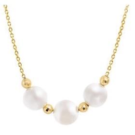 【Milluflora:アクセサリー】6月誕生石 K10 イエローゴールド あこや真珠 ネックレス