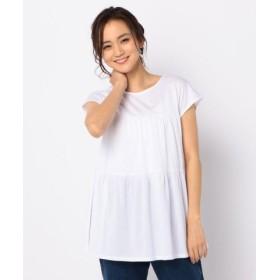 (FREDY & GLOSTER/フレディアンドグロスター)ティアードチュニックTシャツ/レディース オフホワイト