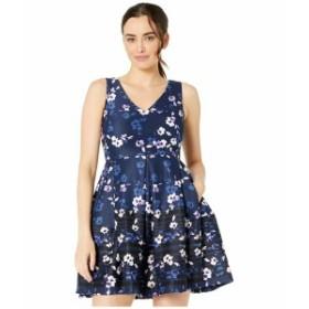 テイラー レディース ワンピース トップス Sleeveless V-Neck Floral Print Dress Navy/Blush