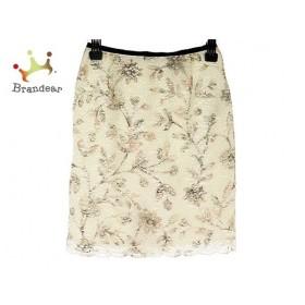 アプワイザーリッシェ スカート サイズ1 S レディース 美品 白×ネイビー×マルチ 新着 20190702