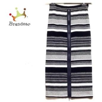 アウラ AULA スカート サイズ0 XS レディース 美品 黒×マルチ 値下げ 20190912