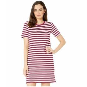 マイケルコース レディース ワンピース トップス Stripe Short Sleeve T-Shirt Dress Bone/Garnet