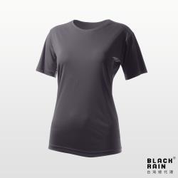 【Black Rain】女圓領短袖休閒衫 BR-112011 (11161 石墨灰)