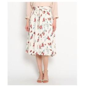 AG by aquagirl(エージー バイ アクアガール)【洗える】リボンベルト付き花柄スカート