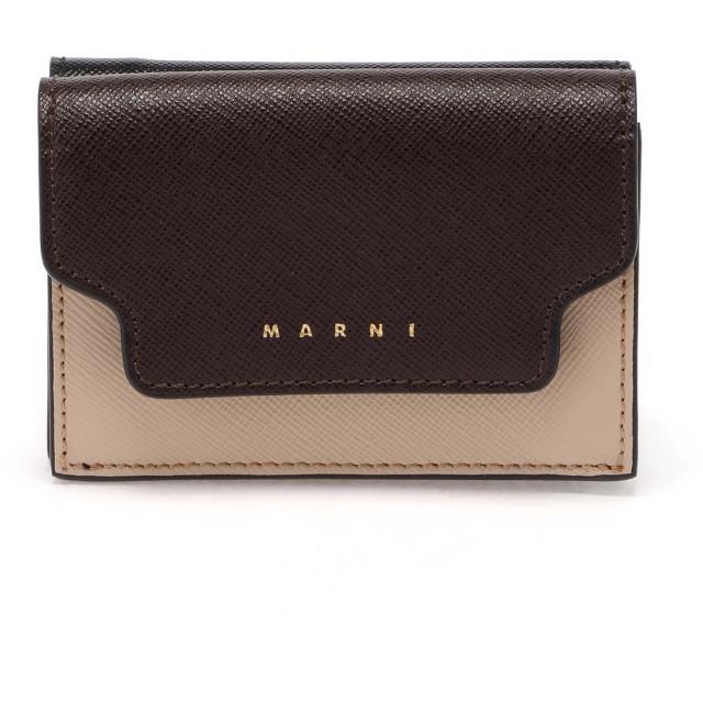 MARNI TRUNKマルチカラーミニウォレット 財布,ライトキャメル