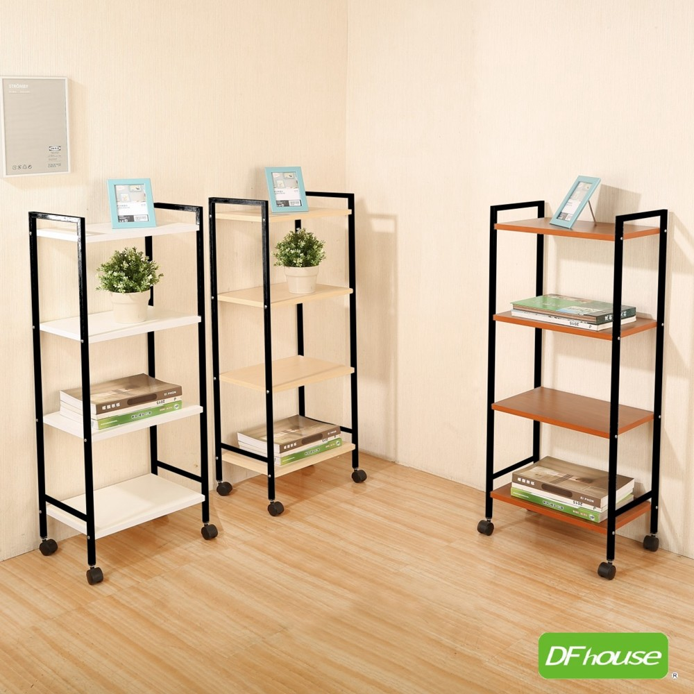 dfhouse佛瑞德-活動置物架(四層)-2色  多功能一抽櫃 床頭櫃 床邊櫃 收納櫃 電話櫃