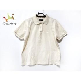 バーバリーゴルフ BURBERRYGOLF 半袖ポロシャツ サイズL レディース 美品 ベージュ 新着 20190702