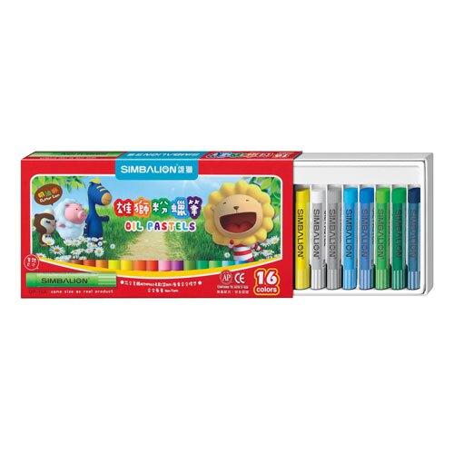 618購物節雄獅   OP-16A  粉蠟筆-16色入 / 盒