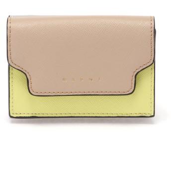 MARNI TRUNKマルチカラーミニウォレット 財布,バニラ