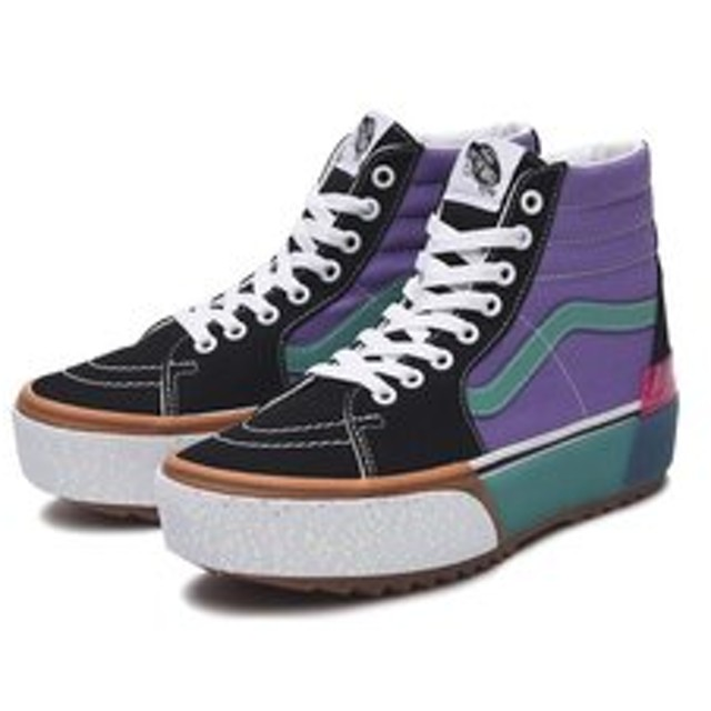 SALE開催中【ABC-MART:シューズ】VN0A4BTWVYF SK8-HI STACKED F.WREN/S.GREEN 592982-0001