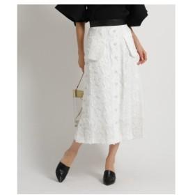 aquagirl(アクアガール)AKIRA NAKA フロントボタンレースタイトスカート