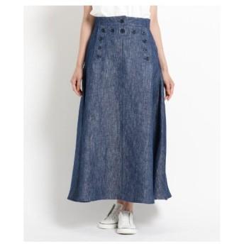 Dessin(Ladies)(デッサン(レディース))【洗える】麻デニムスカート