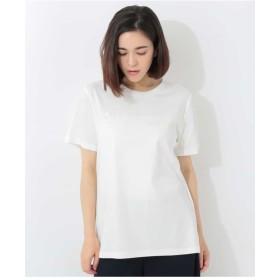 GEORGES RECH 【洗える】スパンコール刺繍Tシャツ Tシャツ・カットソー,ホワイト