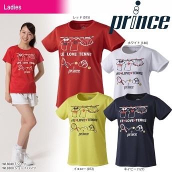 プリンス Prince テニスウェア レディース Tシャツ WL8040 2018SS 『即日出荷』[ポスト投函便対応]