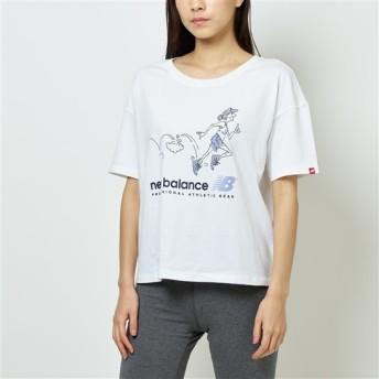 (NB公式)【ログイン購入で最大8%ポイント還元】 ウイメンズ NBアスレチックスアーカイブスローバックTシャツ (ホワイト) ライフスタイル ウェア / トップス ニューバランス newbalance