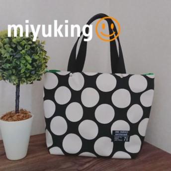 トートバッグ ️白黒◆モノトーン◆水玉◆グリーン