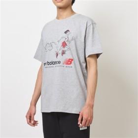 (NB公式) ≪ログイン購入で最大8%ポイント還元≫ NBアスレチックスローバックTシャツ (AG アスレチックグレー) 男性/メンズ/mens ニューバランス newbalance