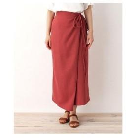 ITS' DEMO(イッツデモ)麻風ラップタイトスカート