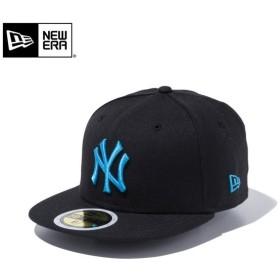 【メーカー取次】NEW ERA ニューエラ Kid's キッズ用 59FIFTY MLB ニューヨーク ヤンキース ブラックXターコイズロゴ 11434028 キャップ 子供用 帽子 ブランド