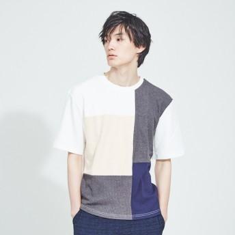 [マルイ] 【WEB別注】異素材 切替え 半袖 Tシャツ/アバハウス(ABAHOUSE)