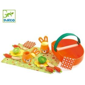 ままごと 木製 ジョジョズピクニックセット 食器セット 知育玩具 ジェコ DJECO ( おままごと セット 遠足ごっこ ピクニック )