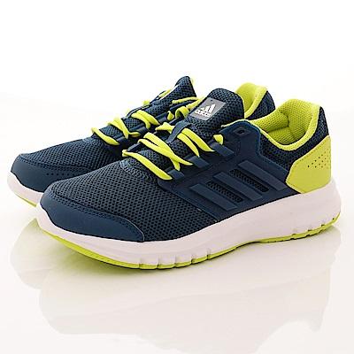 零碼-22cm adidas童鞋 超輕量綁帶運動鞋款 TW809藍綠