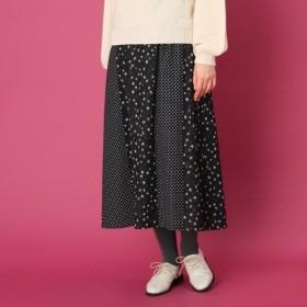 [マルイ]【セール】【WEB限定プライス手洗い可】レオパードドットプリント ロングスカート/クチュールブローチ(Couture Brooch)