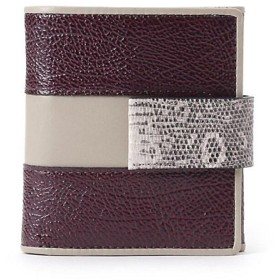 <HIROKO HAYASHI> INVERTO(インベルト)薄型二つ折り財布(2001552103) アカ 【三越・伊勢丹/公式】
