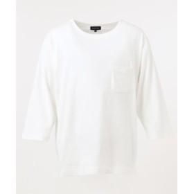 シェアパーク ハイクール7分袖 カットソー メンズ ホワイト系 1 【SHARE PARK】
