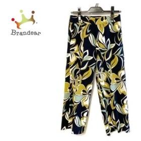 トゥモローランド TOMORROWLAND パンツ サイズ36 S レディース 黒×イエロー×マルチ 花柄 新着 20190703