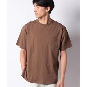 【43%OFF】 ウィゴー WEGO/USAコットンクルーネックポケットTシャツ ユニセックス ブラウン S 【WEGO】 【タイムセール開催中】