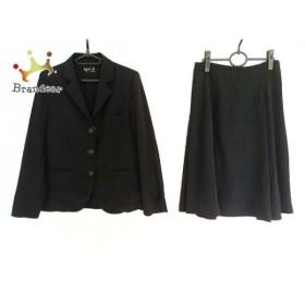アニエスベー agnes b スカートスーツ サイズ38 M レディース 黒   スペシャル特価 20191006
