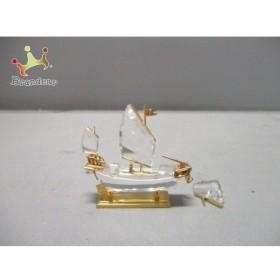 スワロフスキー 小物 美品 クリア×ゴールド 置物/帆船 スワロフスキークリスタル×金属素材 新着 20190702