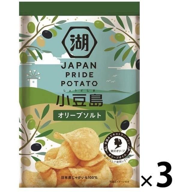 湖池屋 JAPAN PRIDE POTATO オリーブソルト 1セット(3袋)