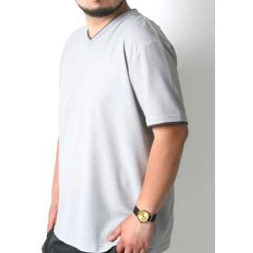 【32%OFF】 マルカワ 大きいサイズ メンズ コスビー Tシャツ 半袖 Vネック 吸汗速乾 ドライ ブランド メンズ ミディアムグレー 4L 【MARUKAWA】 【タイムセール開催中】