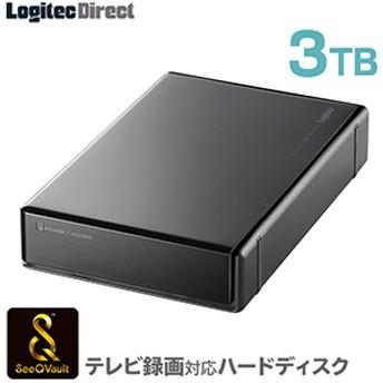 SeeQVault対応 外付けHDD ハードディスク 3TB ブラック