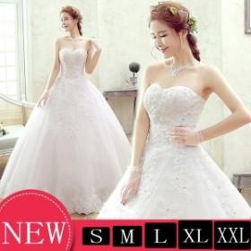 花嫁 ウエディングドレス 二次会ドレス 花嫁 結婚式 ベアトップ ウェディングドレス パーティードレス フォーマルドレス