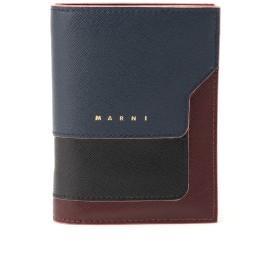 MARNI レザー二つ折り財布 財布,ナイトブルー