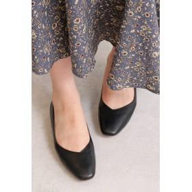 【公式/エヌ ナチュラルビューティーベーシック】Vカットパンプス/女性/靴・パンプス/ブラック/サイズ:M/(甲皮の使用材)合成皮革(底材の種類)合成底