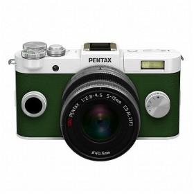 PENTAX Q-S1 ズームレンズキット WH/KG ◆ ペンタックス ホワイト カーキ グリーン ミラーレス一眼カメラ