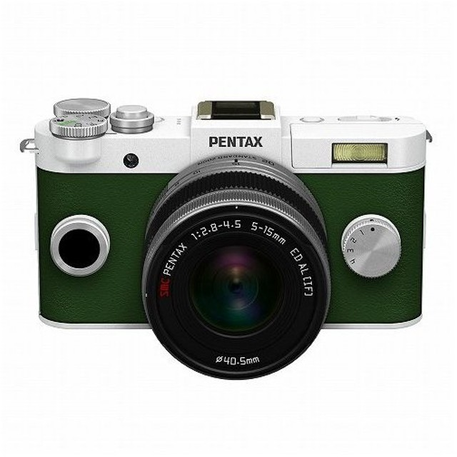PENTAX Q-S1 ズームレンズキット WH/KG ペンタックス ホワイト カーキ グリーン ミラーレス一眼カメラ