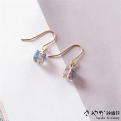 【Sayaka紗彌佳】 愛情的滋味甜甜方糖造型耳環