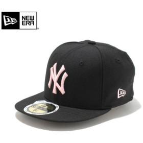 【メーカー取次】NEW ERA ニューエラ Kid's キッズ用 59FIFTY MLB ニューヨーク ヤンキース ブラックXピンクロゴ 11310408 キャップ 子供用 帽子 ブランド