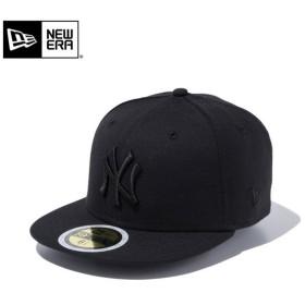 【メーカー取次】NEW ERA ニューエラ Kid's キッズ用 59FIFTY MLB ニューヨーク ヤンキース ブラックXブラックロゴ 11434029 キャップ 子供用 帽子 ブランド
