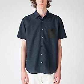 【Crestbridge 】テクニカルカラミハーフスリーブシャツ