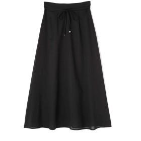 【公式/NATURAL BEAUTY BASIC】[洗える]ボイルマキシスカート/女性/スカート/クロ/サイズ:S/(表生地)ポリエステル 65% コットン 35%(裏生地)ポリエステル 100%