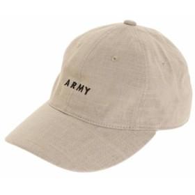 PGAC(PGAC)リネン刺繍キャップ ARMY 897PA9ST1671 BEG (Men's)