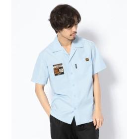 ショット T/C WORK SHIRT/TC 半袖 ワークシャツ メンズ L/BLUE S 【Schott】